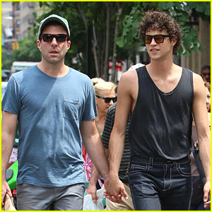 Zachary Quinto & Miles McMillan Stroll Around NYC
