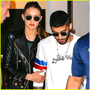 Gigi Hadid Emerges From Apartment with Boyfriend Zayn Malik
