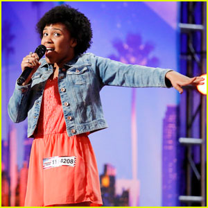 Jayna Brown Earns The Golden Buzzer From Louis Tomlinson On