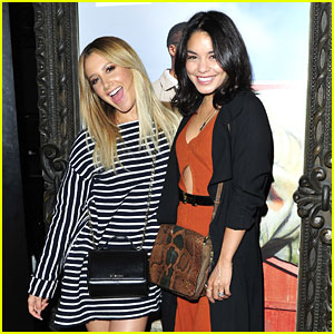 Vanessa Hudgens & Ashley Tisdale Stop By Call It Spring Lounge at Selena Gomez's Concert in LA