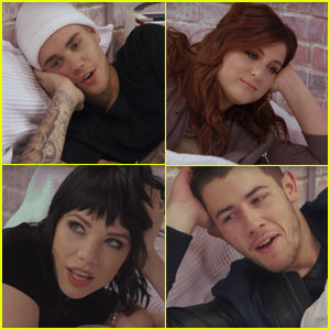 Watch Justin Bieber, Nick Jonas & More Stars Recreate Kanye West's 'Famous' Music Video