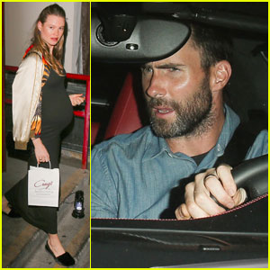 Behati Prinsloo Shows Off Bare Baby Bump in a Bubbly Bathtub!