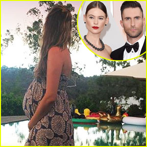Behati Prinsloo Shows Her Baby Bump in New Instagram Photo