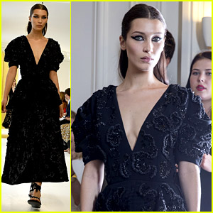 Bella Hadid Looks Super Fierce for Dior Couture Paris Show!