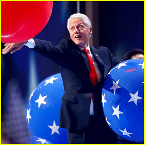 Bill Clinton Playing with Balloons at DNC Will Make You Smile!