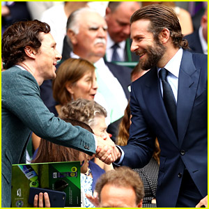 Bradley Cooper & Benedict Cumberbatch Sit Together for Wimbledon Finals!