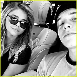 Brooklyn Beckham Snaps New Selfie In Car with Chloe Moretz