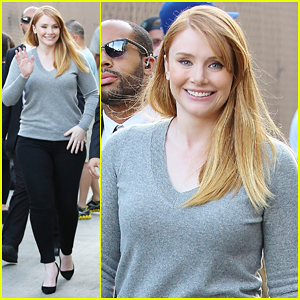 Bryce Dallas Howard Begins 'Pete's Dragon' Press Journey!