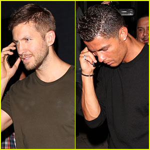 Calvin Harris & Cristiano Ronaldo Leave Warwick After a Night Out