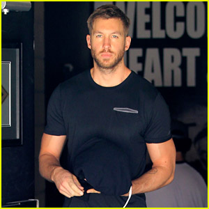 Calvin Harris Gets In a Workout After the Fourth of July