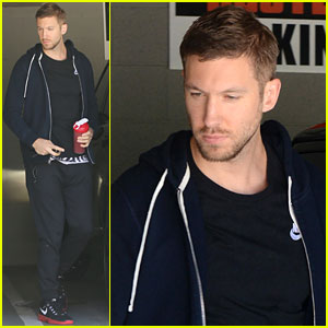 Calvin Harris Was 'Excited' to See Kim Kardashian at Jennifer Lopez's Party