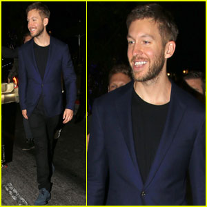 Calvin Harris Steps Out at SkySpace Launch Party