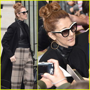 Celine Dion Continues Looking Glam While in Europe!