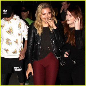 New BFFs Chloe Moretz & Meghan Trainor Catch a Movie with Brooklyn Beckham