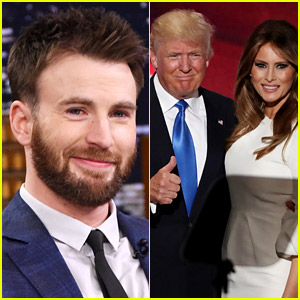 Chris Evans Calls Out Republicans After Melania Trump Speech