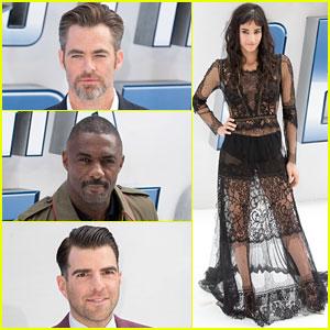 Chris Pine, Idris Elba, & Sofia Boutella Premiere 'Star Trek Beyond' in London!