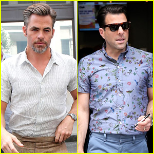 Chris Pine & Zachary Quinto Show Off Suave Style in London