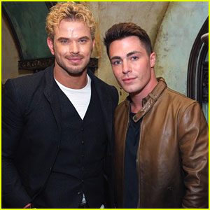 Colton Haynes & Kellan Lutz Share A Conversation at John Varvatos Show in NYC