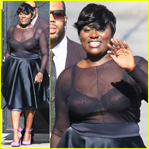 Danielle Brooks Steams Own Skirt In Her Underwear For 'Jimmy Kimmel Live'!