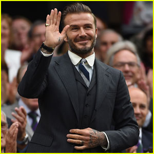 David Beckham Takes His Mom to the Wimbledon Championships