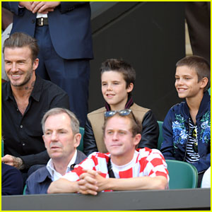 David Beckham Takes Kids Romeo & Cruz to Wimbledon!