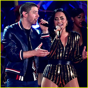 Demi Lovato & Nick Jonas Rehearse for Fourth of July Special