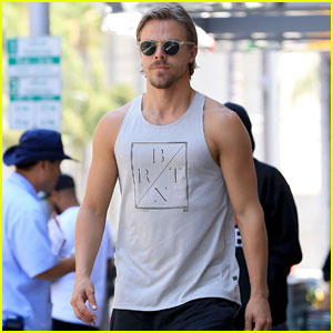 Derek Hough Shows Off His Buff Arms for Beverly Hills Lunch
