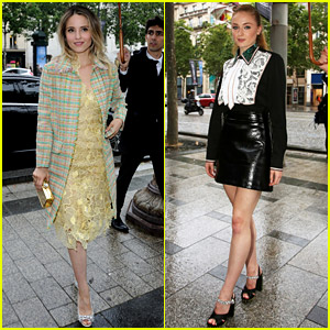 Dianna Agron & Sophie Turner Step Out for Miu Miu Show