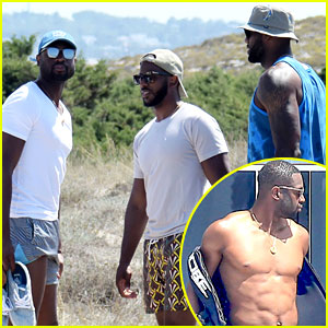 Dwyane Wade, LeBron James, & Chris Paul Go on Vacation in ...