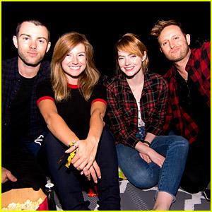 Emma Stone Attends 'Purple Rain' Screening with Friends!