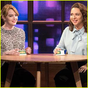Emma Stone & Maya Rudolph Harmonize 'Call Your Girlfriend' & Sound Amazing - Watch Now!