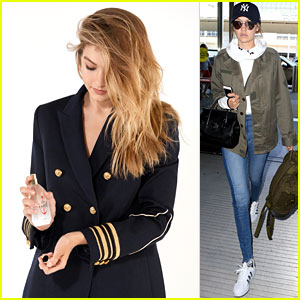 Gigi Hadid Jets Out After Revealing #TheGirl Perfume Campaign