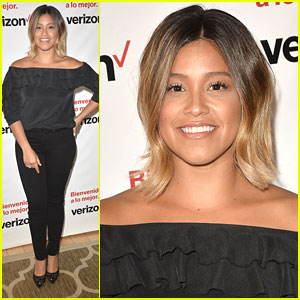 Gina Rodriguez Goes Blonde For Verizon Launch Event