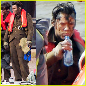 Harry Styles Gets Dirty on the Set of 'Dunkirk'