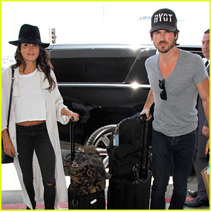 Ian Somerhalder Flies to 'Vampire Diaries' Set with Nikki Reed!