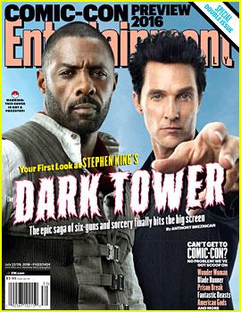 Dark Tower's Idris Elba & Matthew McConaughey Pose In Character for 'EW' Cover