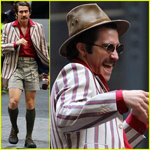 Jake Gyllenhaal Sports Mustache & Funny Costume for 'Okja'!