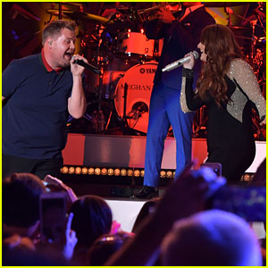 James Corden Joins Meghan Trainor on Stage for Surprise Duet - Watch Now!