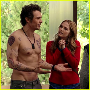 James Franco is Shirtless & Tatted Up in 'Why Him?' Trailer