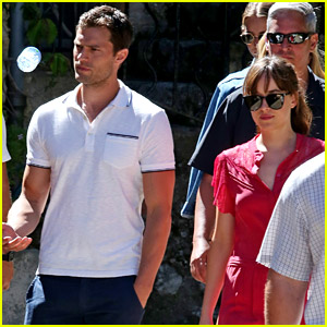 Jamie Dornan & Dakota Johnson Continue Filming 'Fifty Shades' in France After Attack