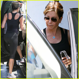 Jennifer Aniston Works on Her Fitness in West Hollywood