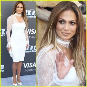 Jennifer Lopez Helps Premiere 'Ice Age: Collision' in LA