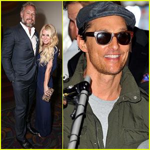 Jessica Simpson & Matthew McConaughey Attend 'Gleason' Premiere