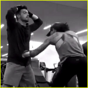 Joe Jonas Becomes a Human Punching Bag for Boxing Champ