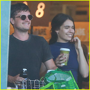 Claudia Traisac Visits Josh Hutcherson On Movie Set Before Lunch in LA