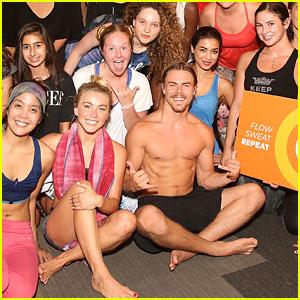 Julianne Hough & Brother Derek Host CorePower Yoga Class