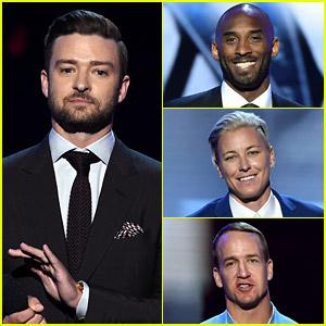 Justin Timberlake Presents ESPYs Icon Awards to Three Sports Greats! (Video)