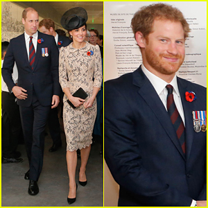 Kate Middleton & Prince William Attend Service To Commemorate WWI Battle with Prince Harry!