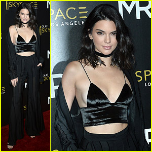 Kendall Jenner Rides Downtown LA's Glass Slide in the Sky!