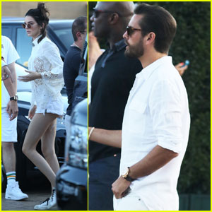 Kendall Jenner & Scott Disick Stop By Bootsy Bellows July Fourth Party